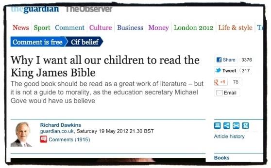 Richard Dawkins and King James Bible